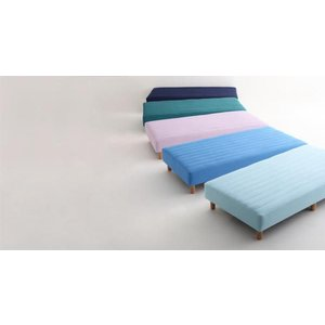 色・寝心地が選べる!20色カバーリングボンネルコイルマットレスベッド 脚22cm セミダブル|adhoc