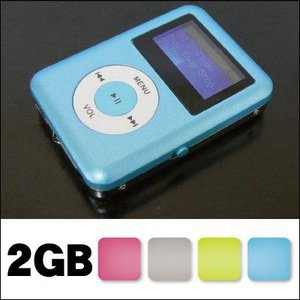 スピーカー内蔵!2GB充電式MP3プレーヤーHS-616-2...