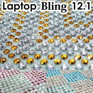 12.1型 ラインストーンシート /デコレーションPC/デコグッズ/デコパーツ/ノートPCカバー/デコ電・スマホ/|adhoc