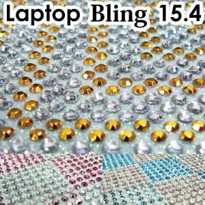 15.4型 ラインストーンシート /デコレーションPC/デコグッズ/デコパーツ/ノートPCカバー/デコ電・スマホ/|adhoc