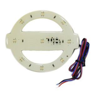 (メール便(送料210円)対応)LEDでエンブレムが光る!LEDエンブレム発光シート 日産車用|adhoc