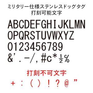 ミリタリー仕様 ステンレスドッグタグ クラシック  2枚組みサイレンサーつき認識票(代引き不可)|adhoc|04
