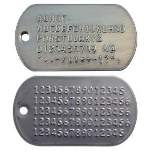ミリタリー仕様 ステンレスドッグタグ エンボス  2枚組みサイレンサーつき認識票(代引き不可)|adhoc|02