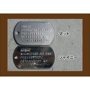 ミリタリー仕様 ステンレスドッグタグ エンボス  2枚組みサイレンサーつき認識票(代引き不可)|adhoc|04