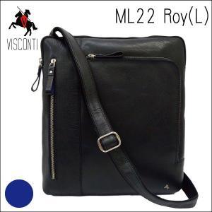 ML22ブラック /イヤホンコード穴つき バッファローレザーショルダーバッグL /本革/A4/斜め掛け/メンズ/通学/VISCONTI|adhoc