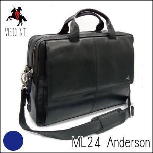 ML24ブラック /バッファローレザー ビジネスバッグ /本革/A4/斜め掛け/メンズ/通勤/仕事/[VISCONTI]|adhoc