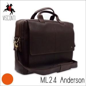 ML24ブラウン/ バッファローレザー ビジネスバッグ /本革/A4/斜め掛け/メンズ/通勤/仕事/[VISCONTI]|adhoc