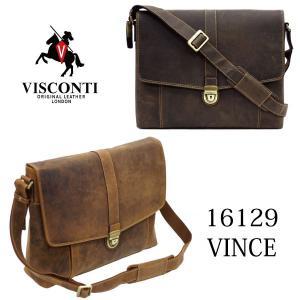 16129_VINCE /差込錠フラップ ショルダーバッグ /本革/A4/ビジネス/オイルレザー/VISCONTI|adhoc