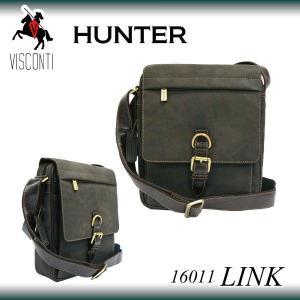 LINK 16011[VISCONTI] 本革/バックル付きレザーショルダーバッグ/ユニセックス/レディース|adhoc
