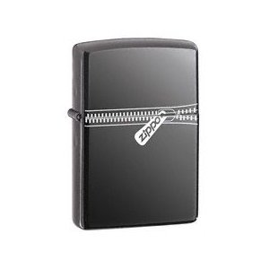 ZIPPO Zipper ZIPPED BLACK ICE LIGHTER 21088|adhoc