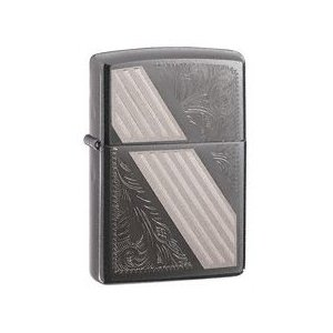 ZIPPO べネチアンストライプ BLACK ICE Venetian Stripe - 24038|adhoc