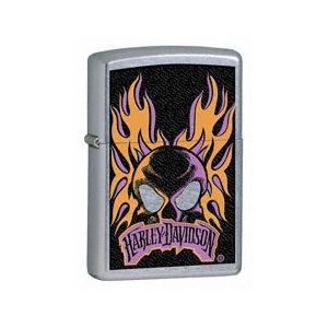 ZIPPO Harley-Davidson flaming skull logo - 24506|adhoc