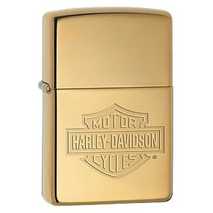 ZIPPO Zippo Harley Davidson Bar and Shield High Polish Brass ハーレーダビッドソン ジッポ 254BHDH260|adhoc
