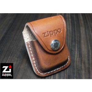 ZIPPO 本革ライターポーチ ブラウン Genuine Leather Lighter Pouch LPCB|adhoc