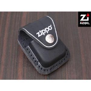 ZIPPO 本革ライターポーチ ブラック Lighter Pouch - with loop - LPLBK|adhoc