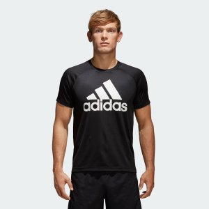 返品可 アディダス公式 ウェア トップス adidas D2M トレーニングビッグロゴTシャツ|adidas