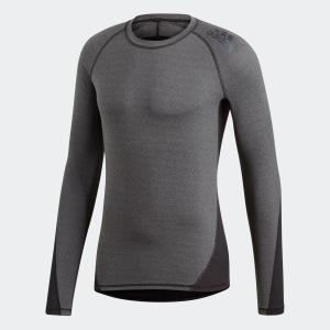 返品可 アディダス公式 ウェア トップス adidas アルファスキン TEAM ヘザーロングスリーブTシャツ|adidas