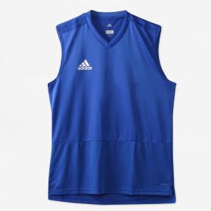 adidas(アディダス) / サッカーウェア / adidas(アディダス)サッカー 半袖プラクティスシャツ CONDIVO18 トレーニングジャージー スリーブレス DUB20 CG03の商品画像|ナビ