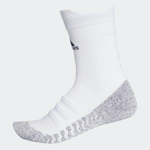 返品可 アディダス公式 アクセサリー ソックス adidas グリップハーフクッション クルーソックス /靴下[アルファスキン/アルファスキンソックス]|adidas