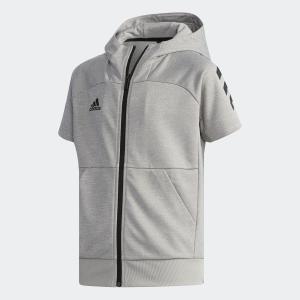 アウトレット価格 アディダス公式 ウェア アウター adidas Jr 半袖フードフルジップスウェット|adidas
