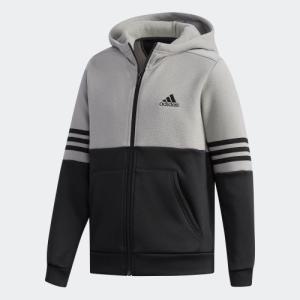 セール価格 アディダス公式 ウェア トップス adidas (子供用)SPORT ID ハイブリッド スウェットフルジップパーカー (裏起毛)|adidas
