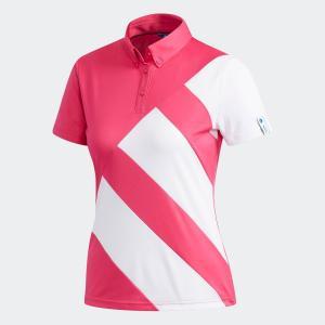 セール価格 アディダス公式 ウェア トップス adidas adicross 3ストライプ半袖 ボタンダウンシャツ【ゴルフ】|adidas