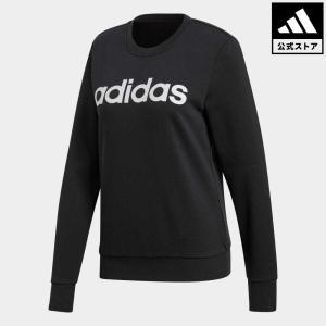 返品可 アディダス公式 ウェア トップス adidas W ESSENTIALS リニアロゴ クルー スウェット adidas