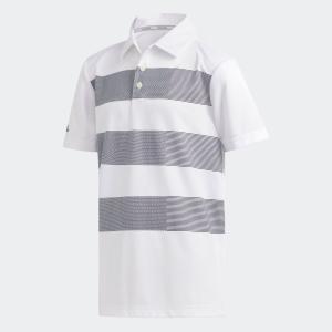 返品可 アディダス公式 ウェア トップス adidas BOYS ビックストライプ 半袖 シャツ【ゴルフ】|adidas