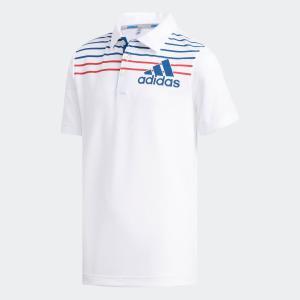 返品可 アディダス公式 ウェア トップス adidas BOYS マルチストライプ 半袖 シャツ【ゴルフ】|adidas