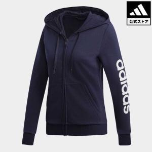 全品ポイント15倍 07/19 17:00〜07/22 16:59 返品可 アディダス公式 ウェア トップス adidas リニアロゴ フルジップ フーディー|adidas