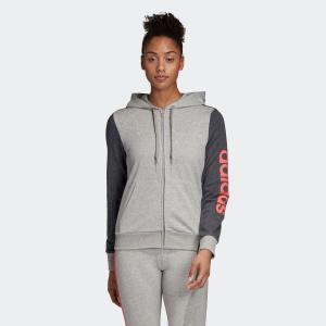 返品可 アディダス公式 ウェア トップス adidas W リニアロゴ フルジップ フーディー adidas