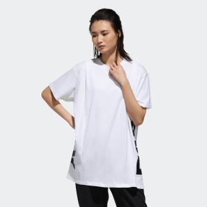 返品可 アディダス公式 ウェア トップス adidas W ID 半袖 サイドCAPリニア グラフィック Tシャツ|adidas