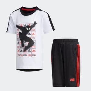 全品送料無料! 5/27 17:00〜5/29 16:59 返品可 アディダス公式 ウェア セットアップ adidas [MARVEL] スパイダーマン Tシャツ&ハーフパンツ 上下セット|adidas