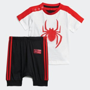 全品送料無料! 5/27 17:00〜5/29 16:59 返品可 アディダス公式 ウェア セットアップ adidas [MARVEL] スパイダーマン Tシャツ&ロークロッチパンツ 上下セ…|adidas