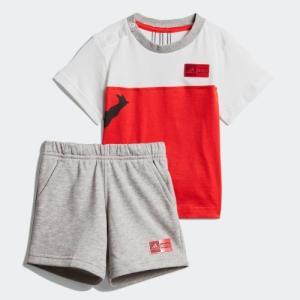 全品ポイント15倍 09/13 17:00〜09/17 16:59 セール価格 アディダス公式 ウェア セットアップ adidas マーベル / スパイダーマン Tシャツ&ハーフパンツ …|adidas