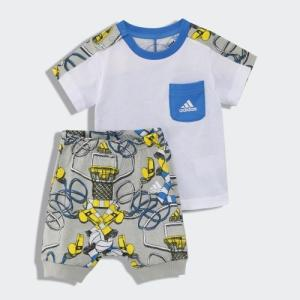 全品ポイント15倍 09/13 17:00〜09/17 16:59 セール価格 アディダス公式 ウェア セットアップ adidas I グラフィック Tシャツ&ロークロッチパンツ 上下セット|adidas