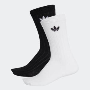 返品可 アディダス公式 アクセサリー ソックス adidas ミッドリブ 2足組みクルーソックス|adidas