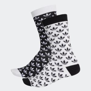 返品可 アディダス公式 アクセサリー ソックス adidas トレフォイル 総柄ソックス/靴下|adidas