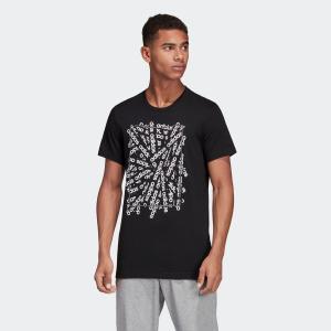 返品可 アディダス公式 ウェア トップス adidas M CORE リニアスキャッターグラフィックTシャツ|adidas