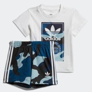 返品可 アディダス公式 ウェア セットアップ adidas カモ柄半袖Tシャツ&ショーツ 上下セット|adidas