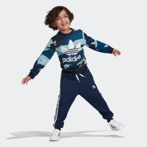 返品可 アディダス公式 ウェア セットアップ adidas カモ柄クルーネックスウェット&スウェットパンツ 上下セット|adidas