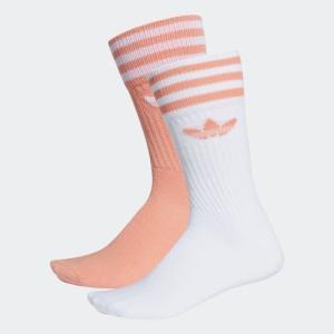 返品可 アディダス公式 アクセサリー ソックス adidas ソリッド 2足組みクルーソックス|adidas