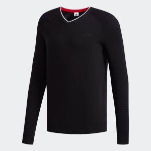 セール価格 送料無料 アディダス公式 ウェア トップス adidas ジャカードVネックセーター 【ゴルフ】|adidas