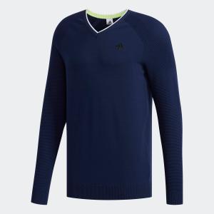 返品可 送料無料 アディダス公式 ウェア トップス adidas ジャカードVネックセーター 【ゴルフ】|adidas