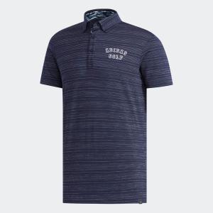 セール価格 アディダス公式 ウェア トップス adidas adicrossドットストライプ 半袖ボタンダウンシャツ 【ゴルフ】|adidas