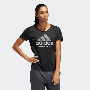 返品可 アディダス公式 ウェア トップス adidas RUN logo 半袖TシャツW|adidas