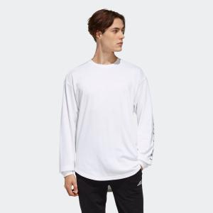 返品可 アディダス公式 ウェア トップス adidas M S2S ビッグワーディング長袖Tシャツ|adidas