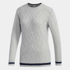 返品可 送料無料 アディダス公式 ウェア トップス adidas ジャカード クルーネック長袖セーター【ゴルフ】|adidas