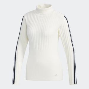 返品可 送料無料 アディダス公式 ウェア トップス adidas リブパターン タートルネック長袖セーター【ゴルフ】|adidas