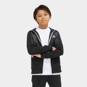 全品ポイント15倍 09/13 17:00〜09/17 16:59 返品可 アディダス公式 ウェア トップス adidas B ID ハイブリッドスウェット フルジップフーディー|adidas